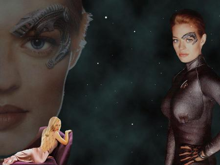 seven of nine  - star trek, tv series, space