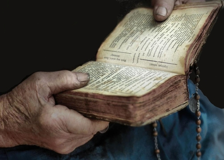 The Book - hands, belief, book, religion, abstract, old, faith