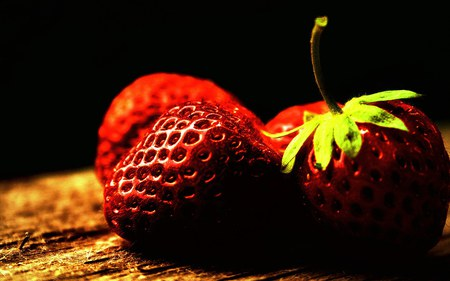 FRESH STRAWBERRIES - fresh, photography, vit c, red, fruits