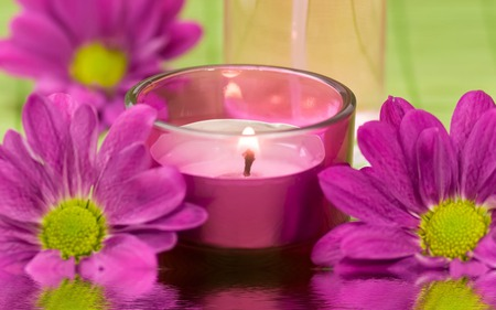 pink candle - Other & Abstract Background Wallpapers on ...