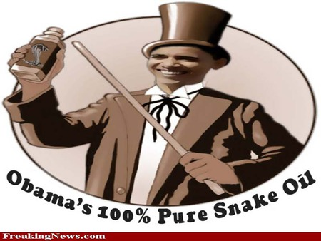 obama snake oil salesman - obamacare, obama