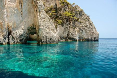 Crystal clear sea - zakynthos, sea, greece, island