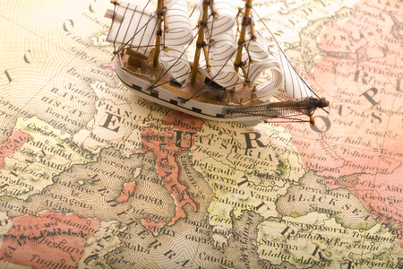 Europe Map - countries, boat, europe map, world, boats, abstract, ship, beautiful, map, maps, earth, nice, sailboat, europe, photography, ships, sailboats, country