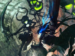 black rock shooter black rock shooter character chain dead master huke scythe sword