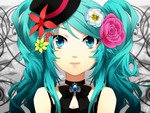close hatsune miku vocaloid