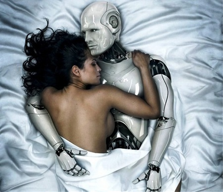 juguete sexual - sexy, robot, girl, white, lovers
