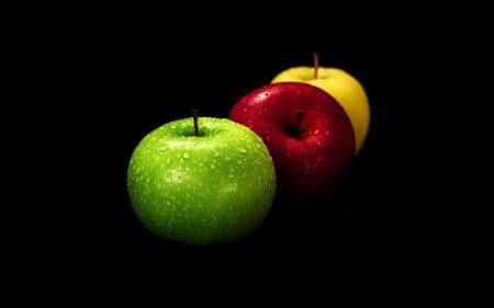 Fruits - fruit, apple, black