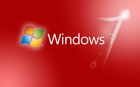 Windows 7 - red, microsoft, windows 7, pc
