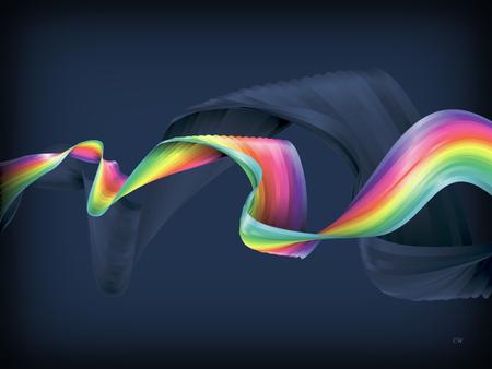 Ribbon Wave - abstract, wave, colors, ribbon