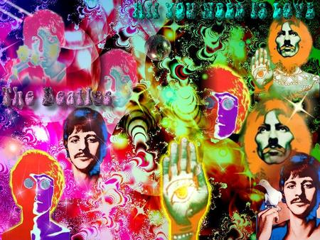 Beatles - beatles, psychedelic, ringo, sixties, george harrison, mccartney, lennon