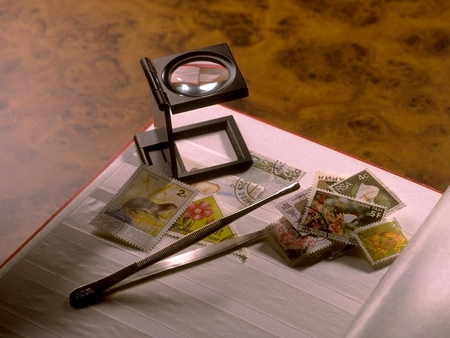 STAMP COLLECTION - still life, photography, collection, hobby, stamps