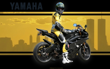 Yamaha - motorcycle, yamaha, bike, leather, sport, moto, yzf-r6