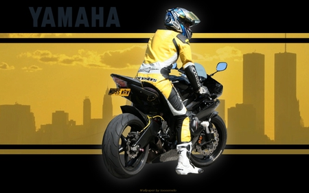 Yamaha - sport, leather, yzf-r6, moto, yamaha, bike, motorcycle