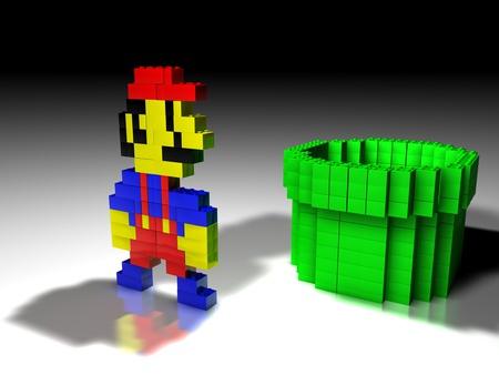 Lego Mario - 3d mario, nintendo, game, lego, 3d lego, mario, 3d