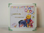 Handmade birthday card with Bear Pooh.