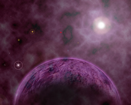 Purple Planet - cool, awesome, sphere, moons, galaxy, beautiful, other, planets, amazing, pink, universe, moonlight, galaxies, nice, purple, space, stars, scarlat, satellites, circle