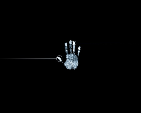 Digital Hand Print Scanner Photography Abstract