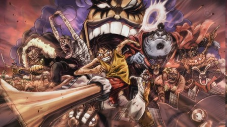Impel Down´s Riot - pirates, luffy, riot, mugiwara, impel down, one piece