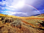 Rainbow Over Fossil Beds- Oregon