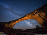 Owachomo Bridge at Night, Utah