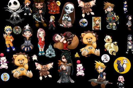 Anime & other Babies/chibi - collage, nightmare before christmas, chibi, anime