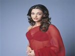 aishwarya rai hot in red saree