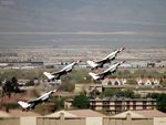 Thunderbirds in Diamond Formation Take Off