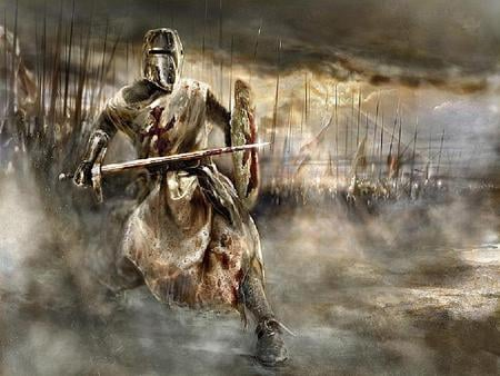 The Battle - art, war, cg, army, abstract, fantasy, 3d, battle, knights