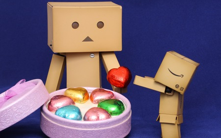 Take my heart - danbo, heart, robot