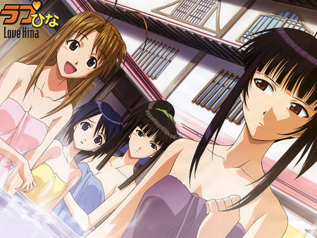 girls from Love Hina,bathing - bathing, girls from love hina