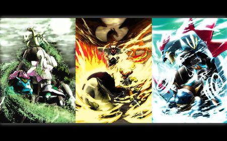 Pokemon starters pokemon anime background wallpapers on desktop nexus image 334166 - Evolution tortipouss ...