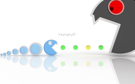 Hungry ? - design, pac man, 3d