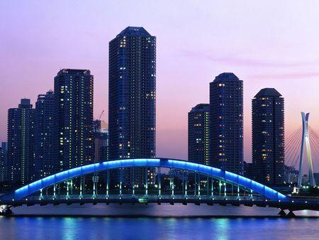 Eitai Bridge Tokyo  - skyline, bridge, architecture
