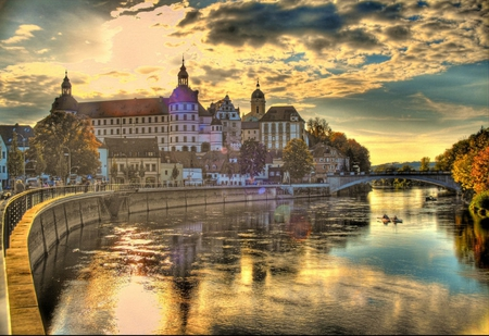 City of Europe - sunlight, white, rivers, yachting, high, sailing, brown, orange, hdr, reflected, autumn, lakes, water, sunrises, churches, photoshop, monuments, leaf, seasons, trail, city, clouds, buildings, leaves, medieval, photography, sunsets, bridges, gold, red, boat, ancient, mirror, amusement parks, plants, religious, lagoons, colors, europe, trees, architecture, houses, trunks, purple, sail, reflections, green, photo