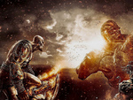 God of war 3 Fighting the Titans