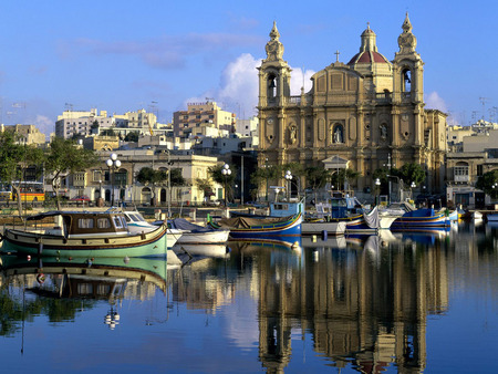 Malta harborside - building, nice, boats, water, beauitful, houses, reflection, sea