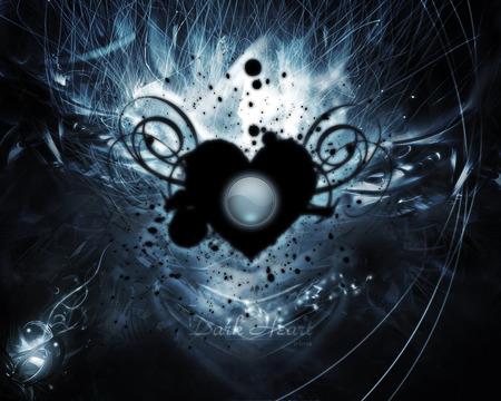 Dark Heart 3d And Cg Abstract Background Wallpapers On Desktop Nexus Image 338011
