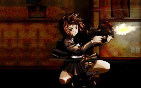 gunslinger girl henrietta - gun, gunslinger girl, henrietta