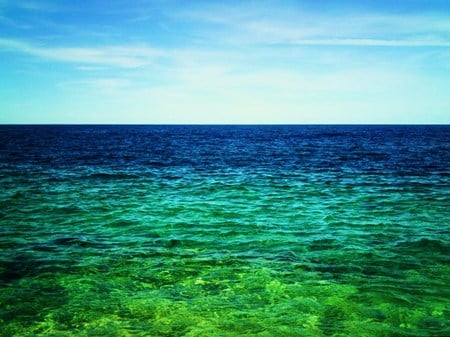 Blue Green Ocean Colours of the ocean - oceans & nature background ...