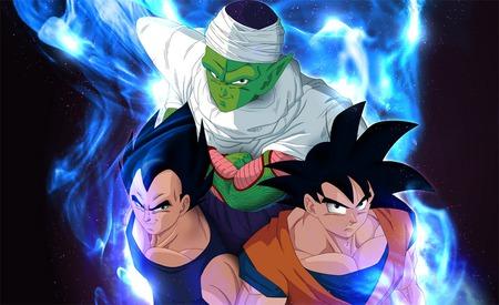 Goku Vegeta And Piccolo Dragonball Anime Background Wallpapers
