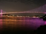 amazing new lights of our lovely bridge on Bosphorus in Istanbul