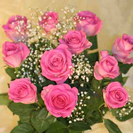 12 PINK ROSES - from her king, for my queen