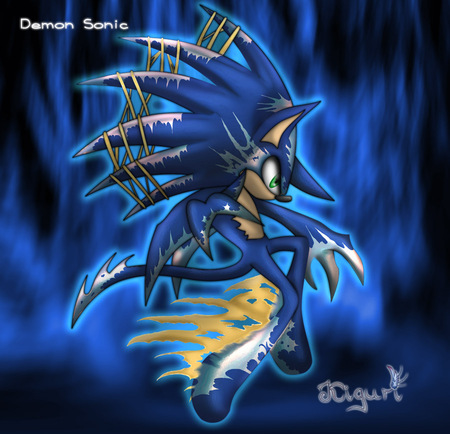 Demon sonic by Zerophantom - sonic the hedgehog