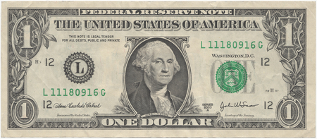 One Dollar - united states, obverse, money, dollar, dual screen, bill, one dollar