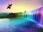 Rainbow Waterfalls Of Dreams