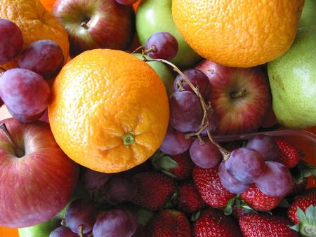 Tasty Picture - apple, orange, food, fruits, comestible, fruit, grapes, photography, bunch of grapes