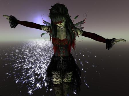 Gothic Fairy 3d And Cg Abstract Background Wallpapers On