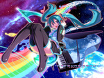 space rainbow miku