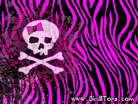 SKULL GIRLY - pink, girly, zebra