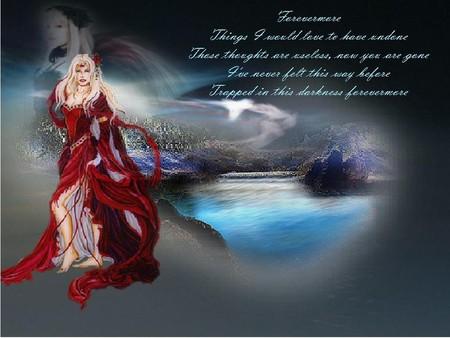 FOREVERMORE - dress, female, poem, words